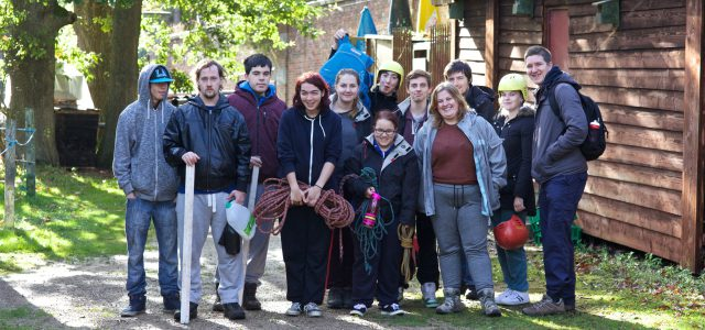 Group of participants posing for a photo at Beaudesert Park residential